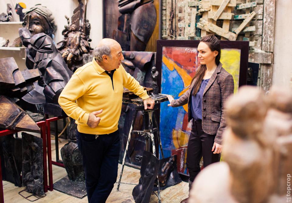 В студии скульптора Георгия Вартановича Франгуляна
