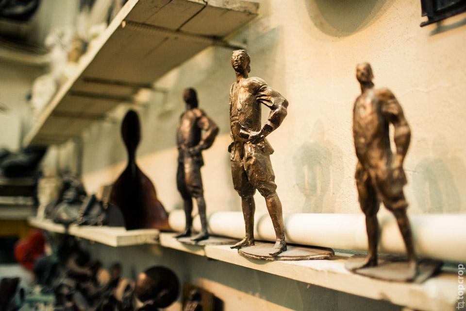 В мастерской скульптора Георгия Франгуляна