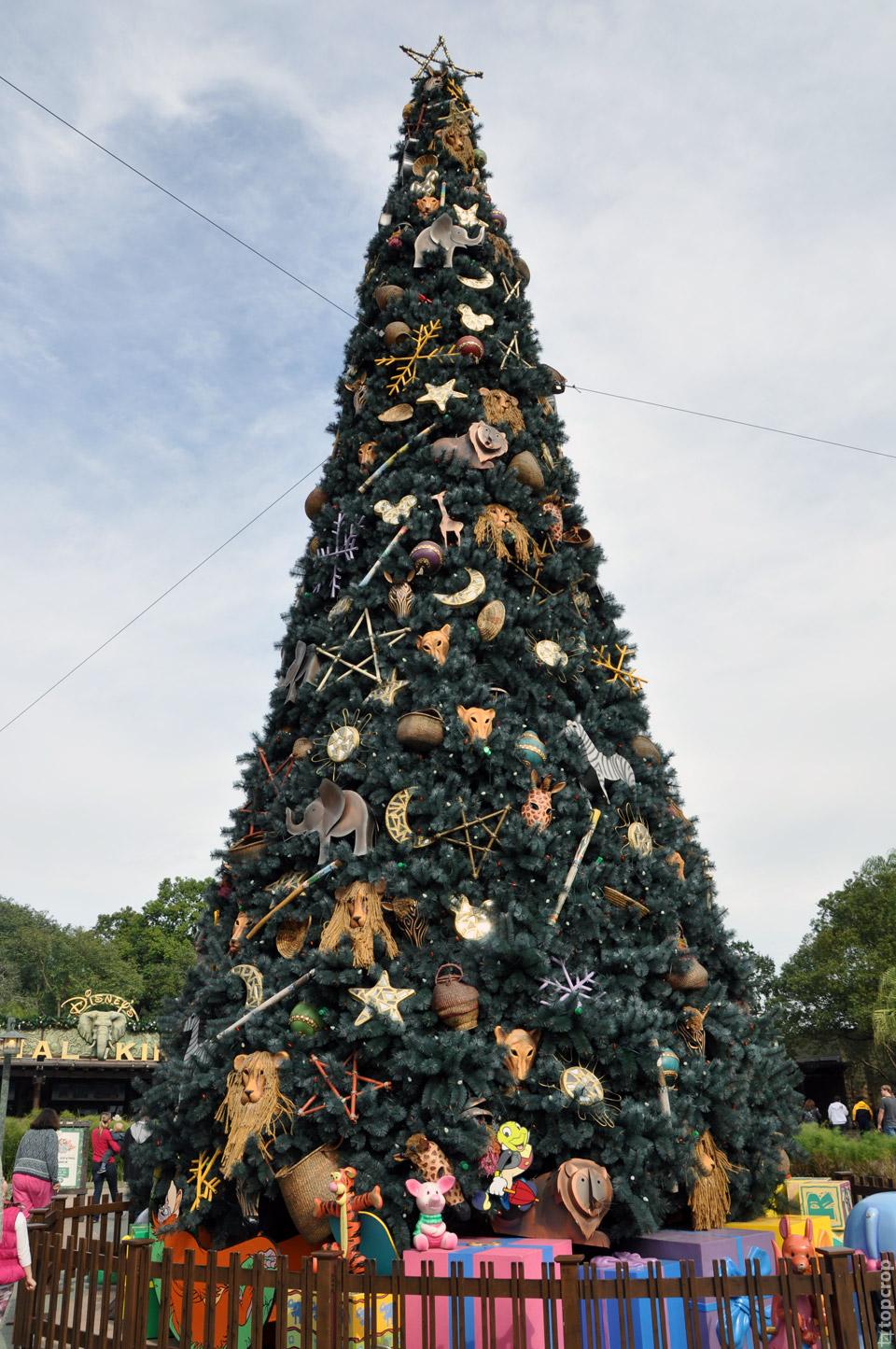 Новогодняя ель в Animal Kingdom