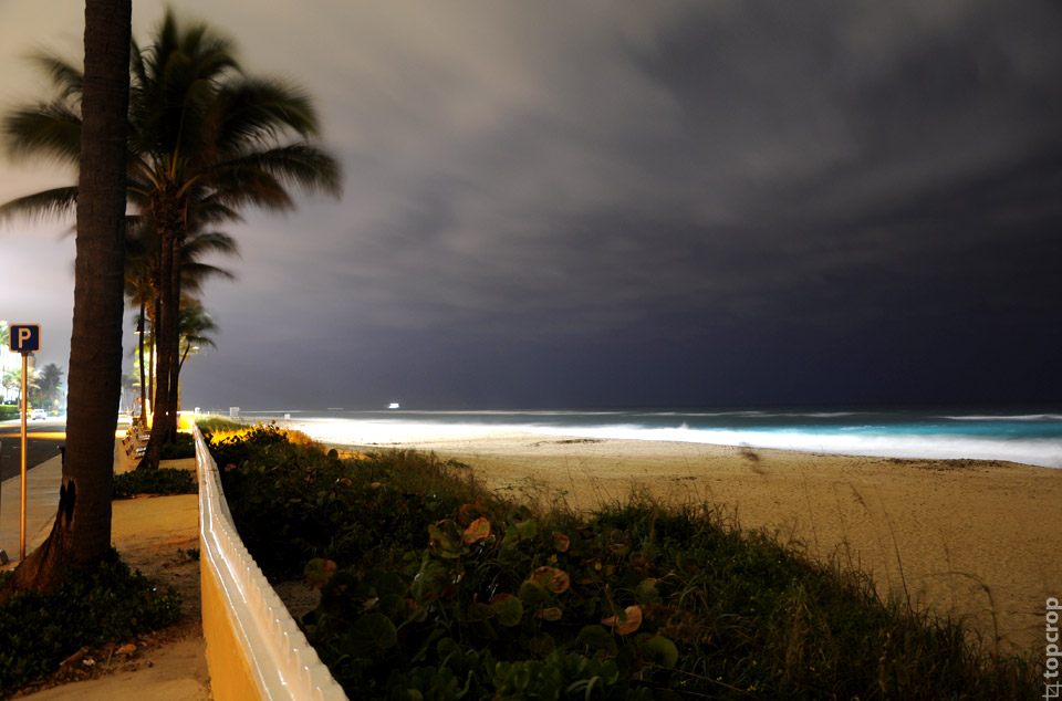 Атлантический океан в Палм-Бич