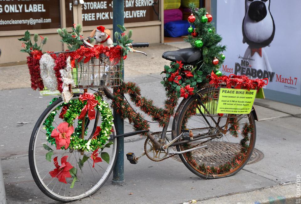 Рождественский велосипед