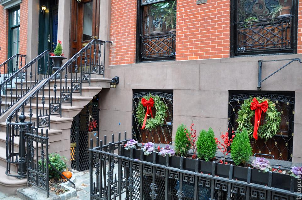 Украшения домов на Манхэттене