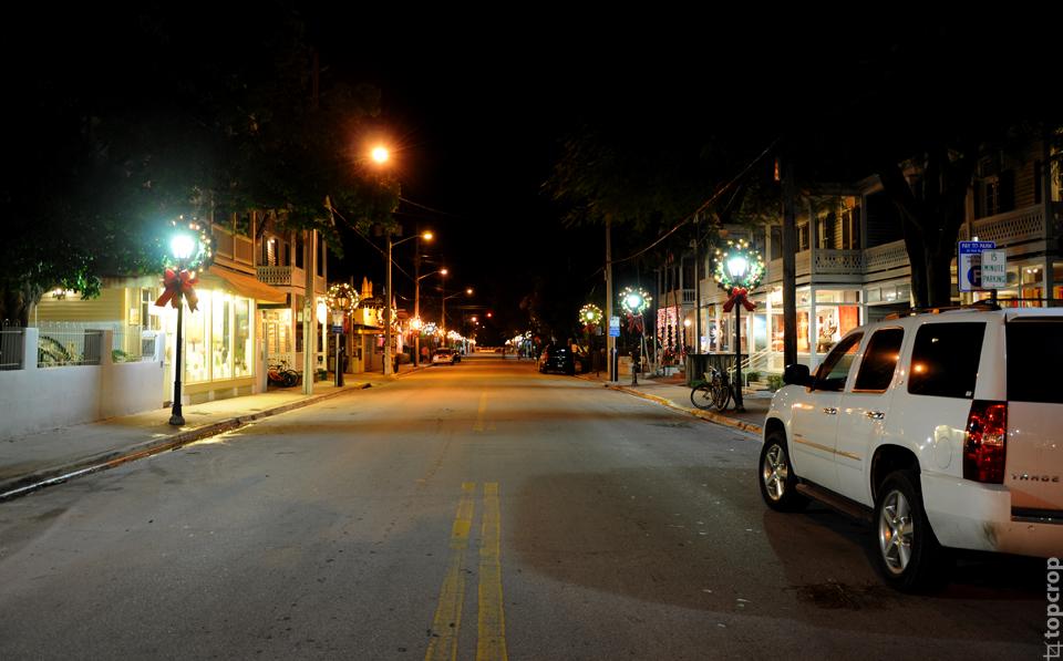 Одна из основных улиц на Key West
