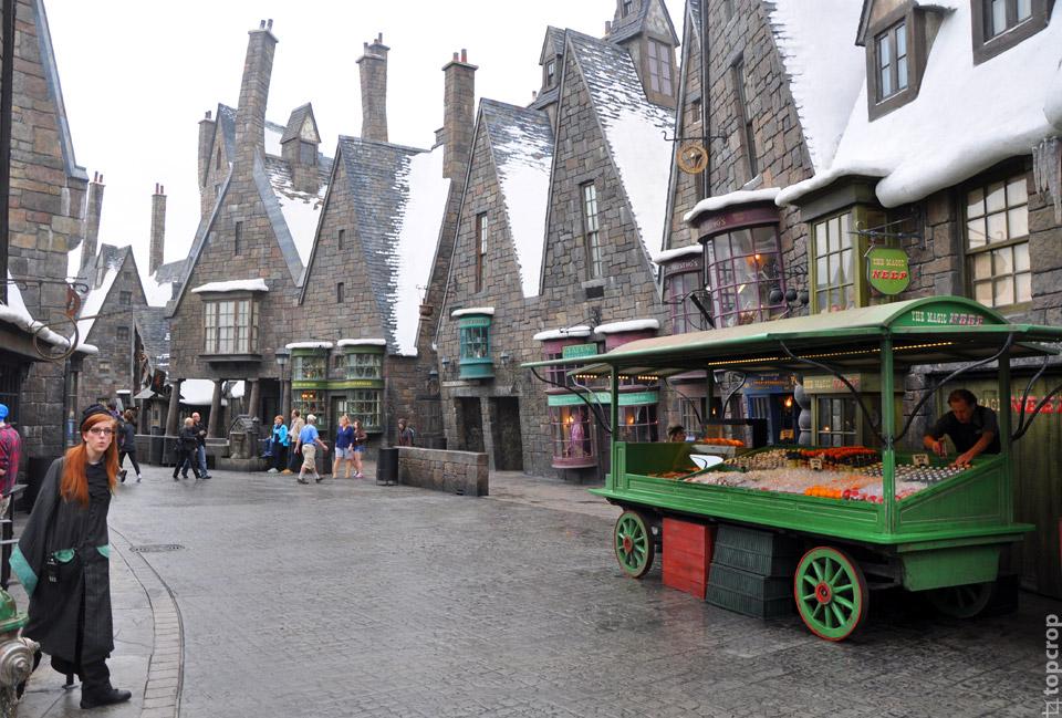 Улица в тематической зоне Islands of Adventure, посвященной Гарри Поттеру
