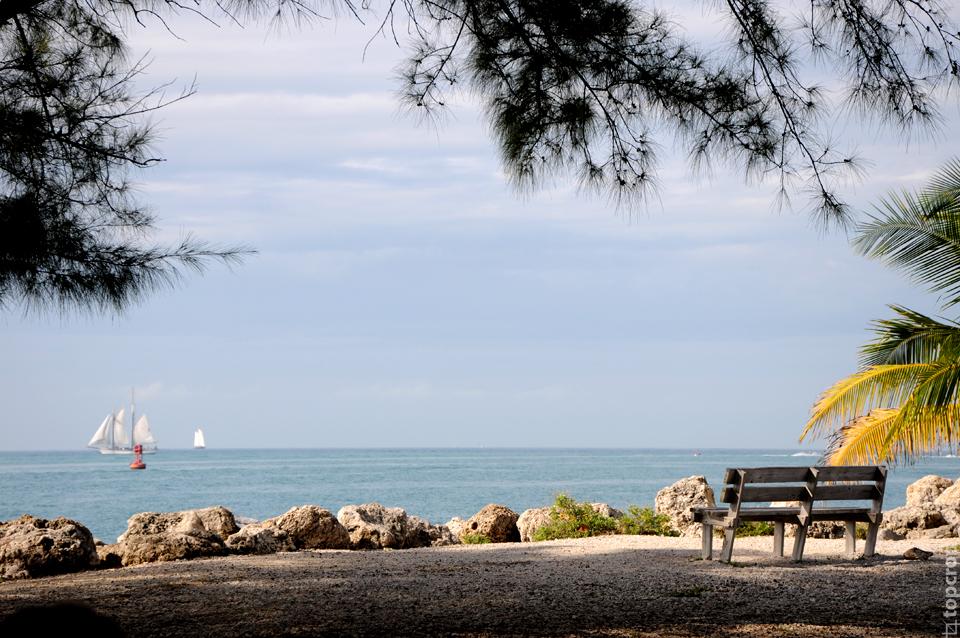 Пляж Закари Тейлора на о. Ки-Уэст
