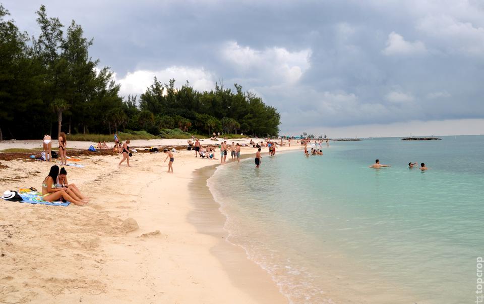 Песочный пляж Закари Тейлора на острове Key West