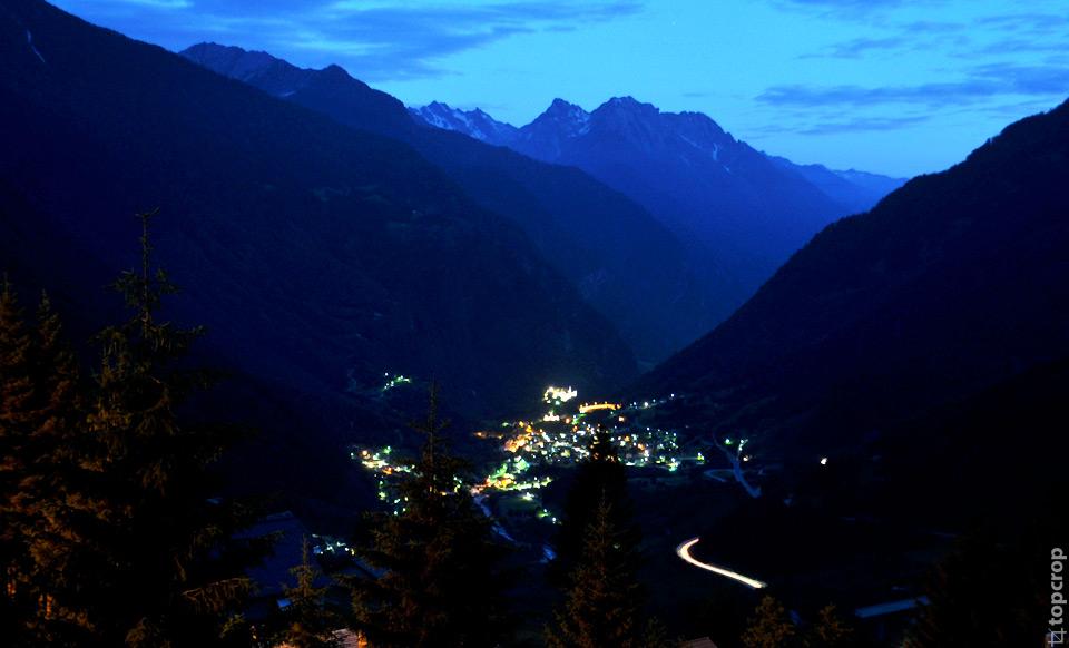 Горный швейцарский пейзаж