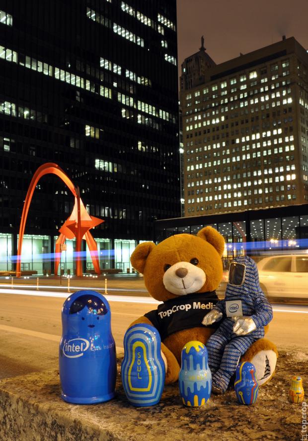 Статуя Фламинго в Чикаго