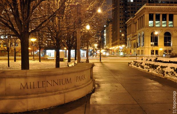 Милленниум парк в Чикаго зимой