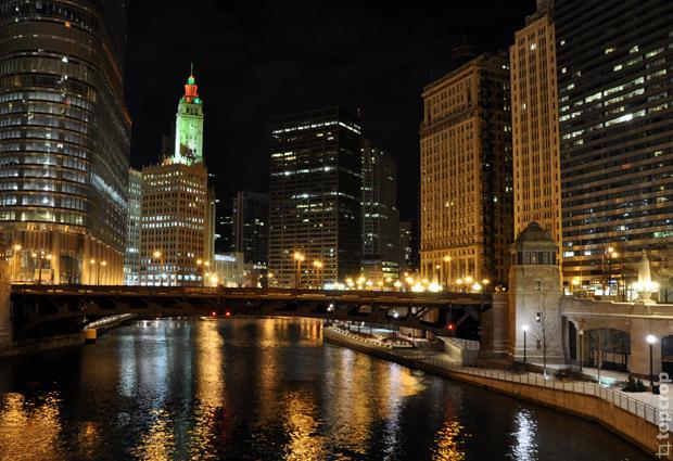 Вид на реку Чикаго