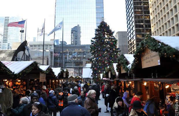 Daley Plaza в Chicago, winter 2013