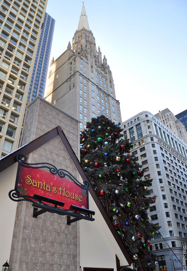 Рождественская ель в Чикаго, 2013 год