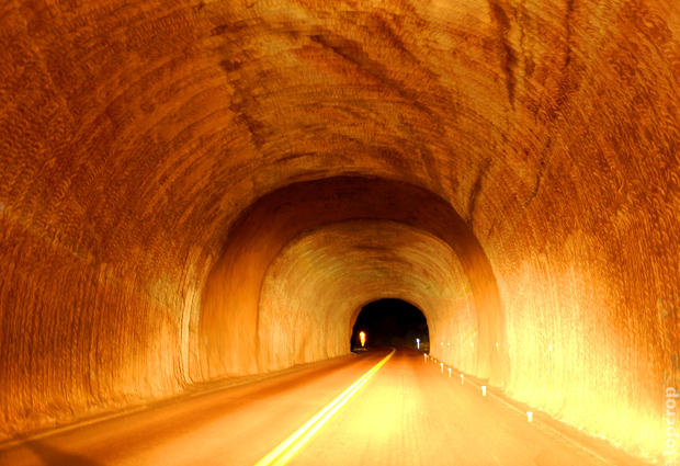 Тоннель в Зайон парке (Zion Park)