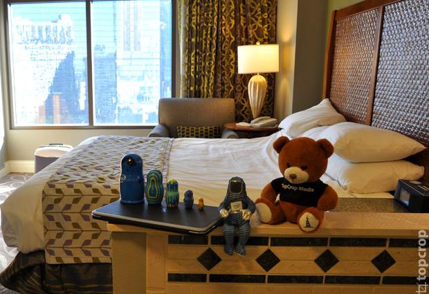 Команда экспедиции TopCrop.ru при технической поддержке Intel в одном из лучших отелей Лас-Вегаса