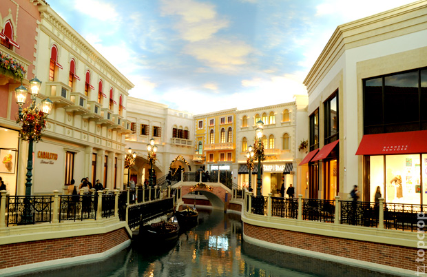 Венецианский канал в Палаццо (The Shoppes At The Palazzo)