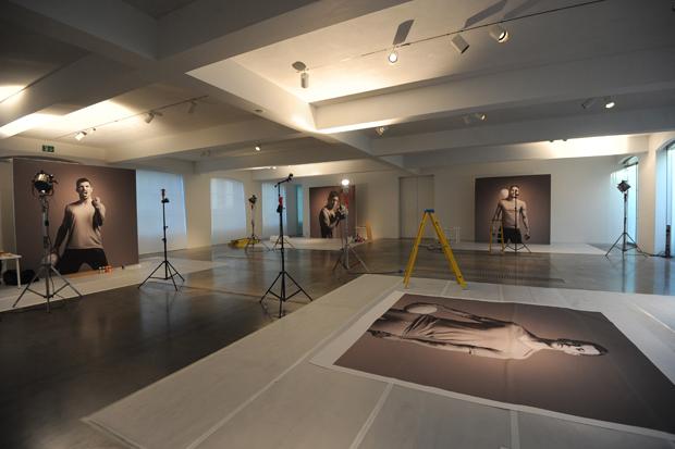 """Студия, где производились работы художников над арт-проектом """"Искусство футбола"""""""