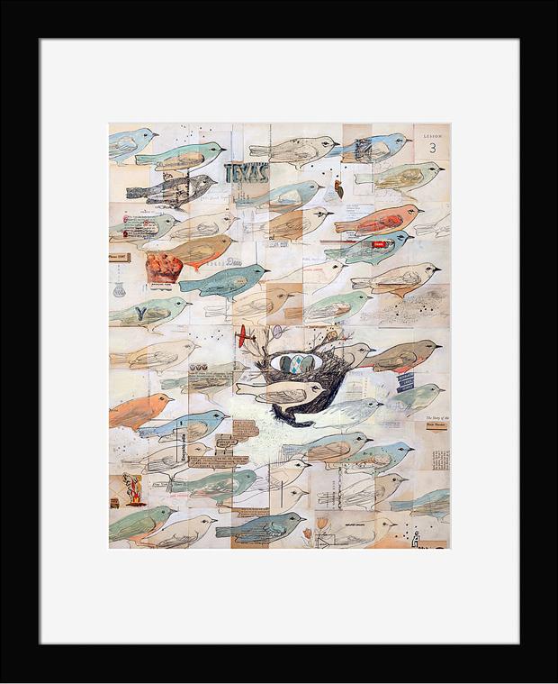 Постер с птицами - универсальный подарок в кабинет
