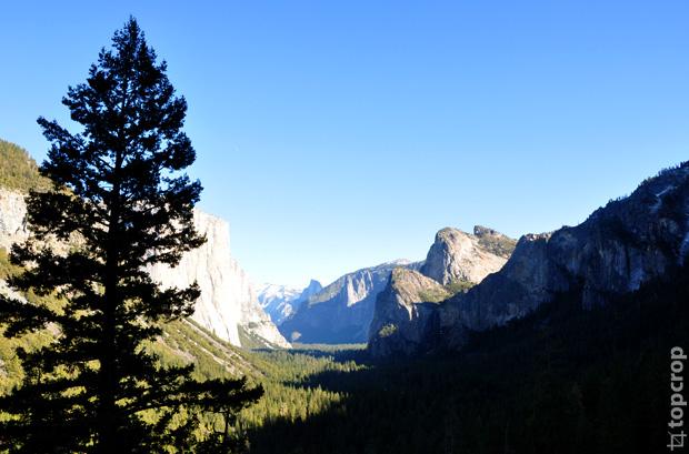 Вид на долину Йосемити с Tunnel view