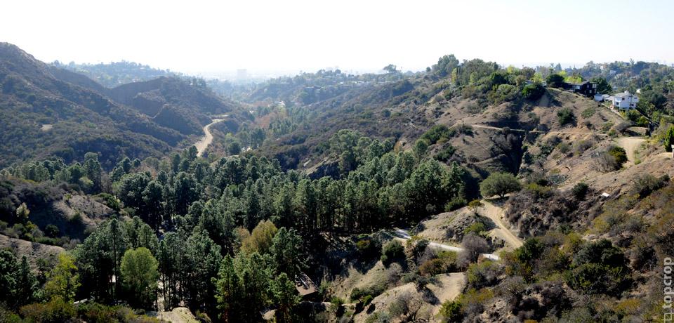 Вид на долину Лос-Анджелеса
