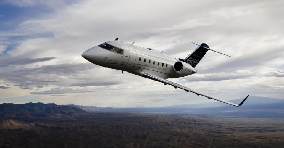 """Бизнес-джет из категории """"Большие самолеты"""" Challenger 605"""