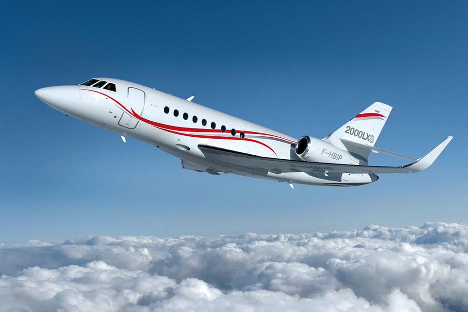 Большие самолеты. Модель Falcon2000LXS-Dassault-Aviation