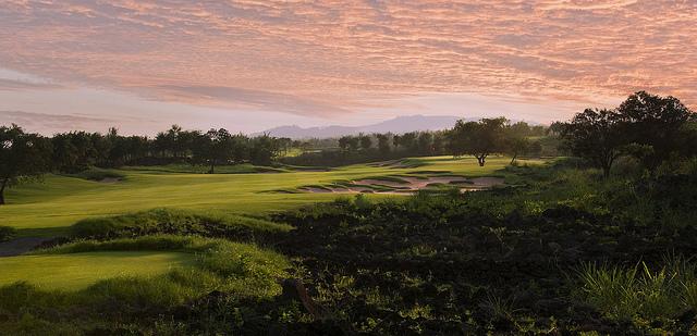 гольф, поле для гольфа, Lava Fields, Mission Hills Haikou, Китай