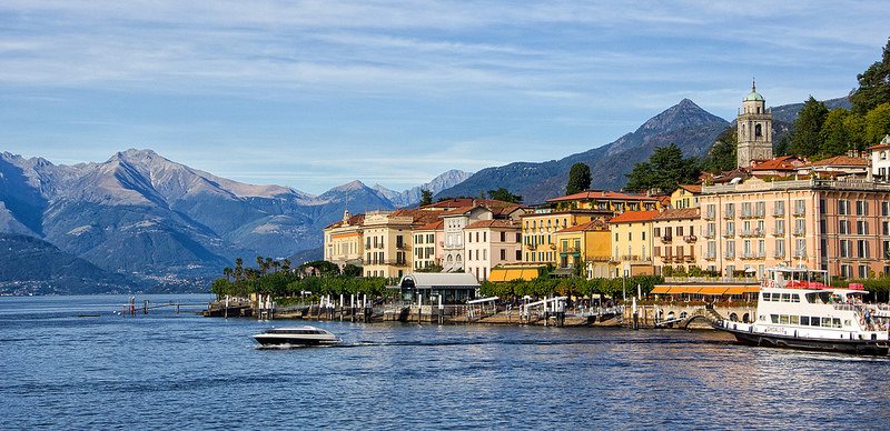 Городок Белладжио, озеро Комо, Италия, путешествия