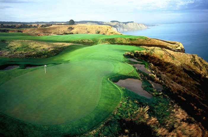 Поле для гольфа, Cape Kidnappers, Новая Зеландия