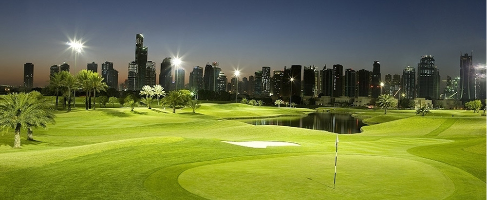 Поле для гольфа, Championship Course, The Address Montgomerie Dubai, гольф, Дубай, ОАЭ