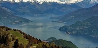 Озеро, Комо, Италия, путешествия