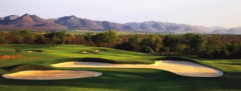 Поле для гольфа, Leopard Creek Country Club, гольф, Южная Африка