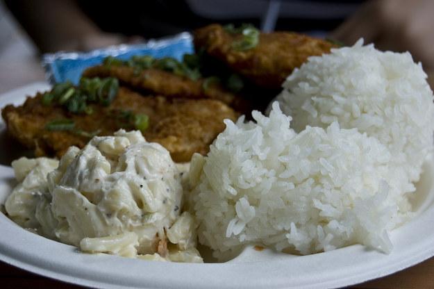 Mac салат,  гавайская кухня, блюда