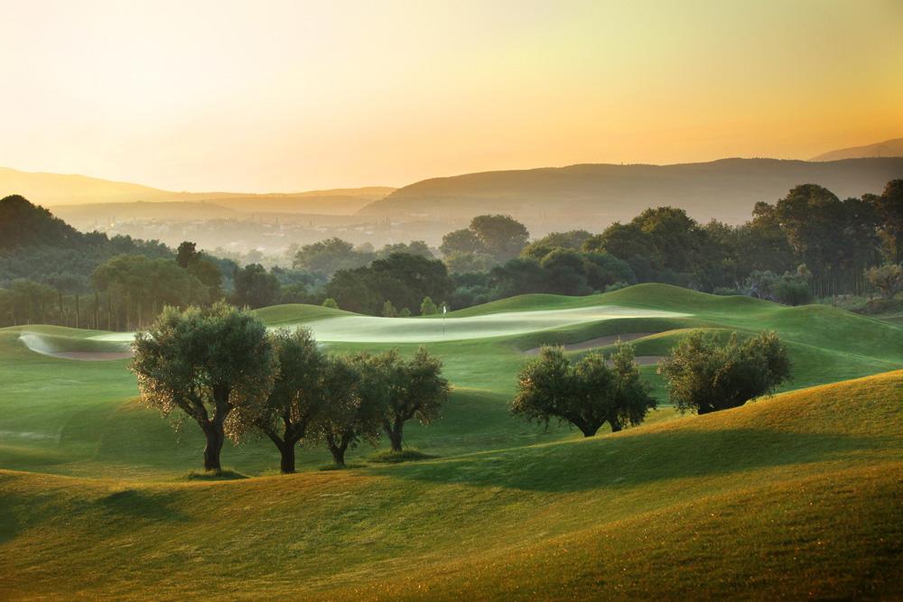 Лунка №6, поле для гольфа, The Dunes Course, Costa Navarino Golf, гольф, Греция