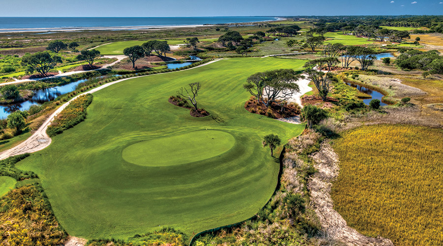 Лунка № 3, Ocean course, Kiawah Island Resort, гольф, путешествия, США