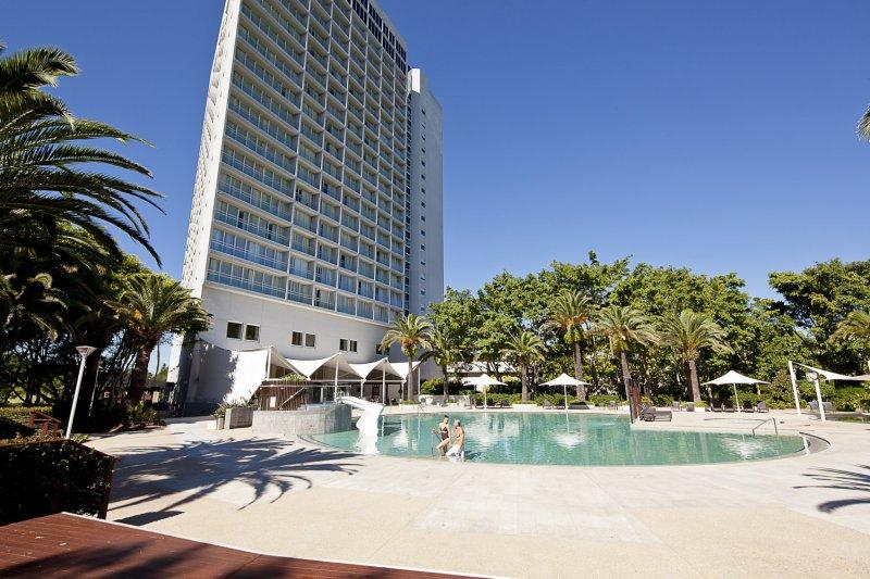 Бассейн в Royal Pines Resort, Бенова Квинсленд, Австралия, отель, гольф, путешествия