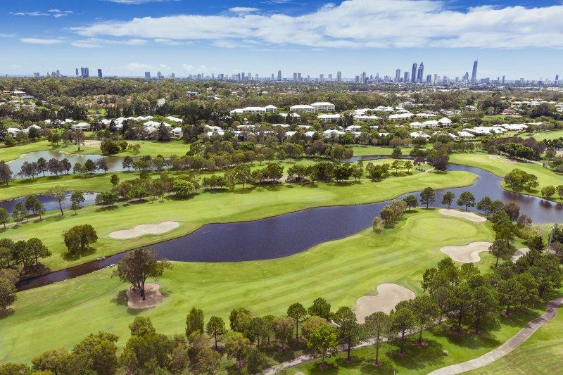 Гольф-поле в Royal Pines Resort, Бенова Квинсленд, Австралия, гольф, путешествия