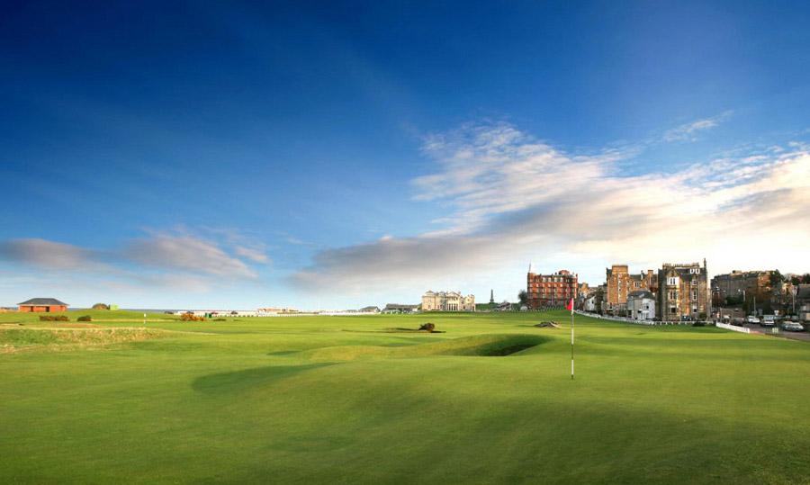 Old Course, St Andrews Links, Шотландия , гольф, поле для гольфа