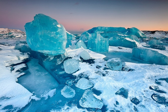 Озеро Йокульсарлон в Исландии