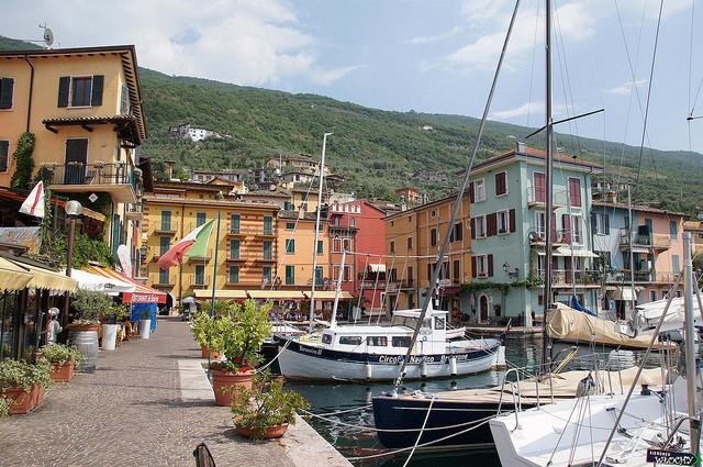 Бренцоне, Италия, озеро, Гарда, путешествия