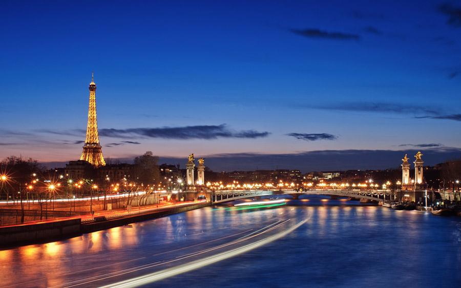 Сена, Париж, Франция, река