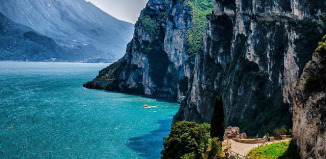 Озеро, Италия, Гарда, путешествия