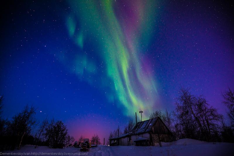 северное сияние, Ямал, путешествия