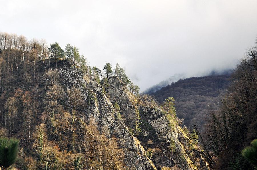 """Вид на горы от ГТЦ """"Газпром"""""""