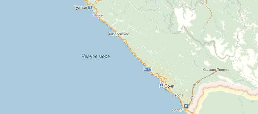 Карта города Сочи