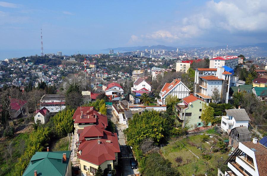 Вид на город Сочи