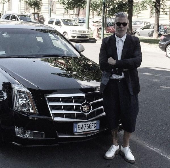 Ник Вустер на неделе моды в Милане