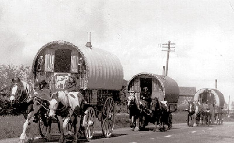 Обычный цыганский табор начала хх века