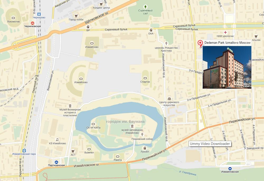 Где находится Dedeman Park Izmailovo на карте Москвы