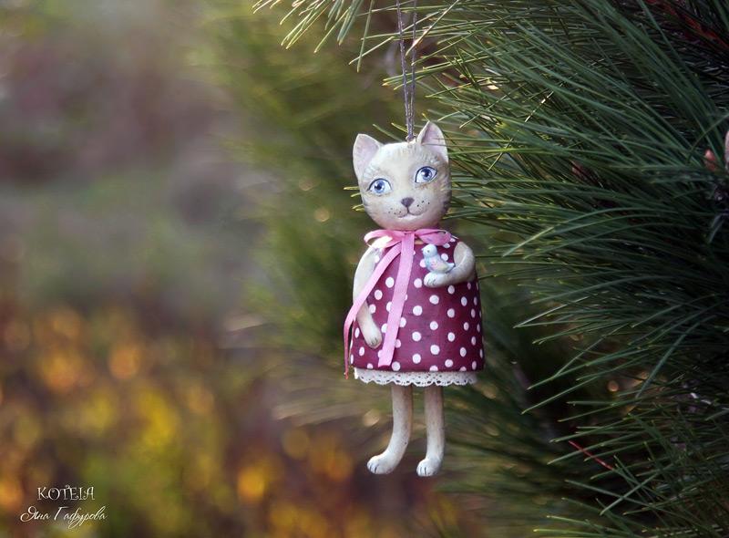 Игрушка Кошка для елки