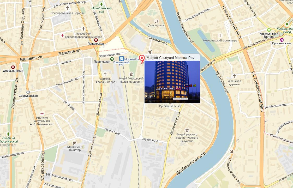 Marriott Courtyard на карте
